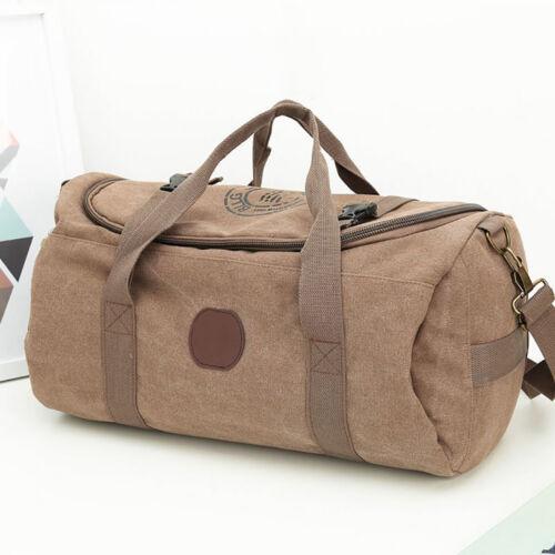 Canvas Fitness Gym Sports Bag Men Women Luggage Travel Bag Handbag Waterproof