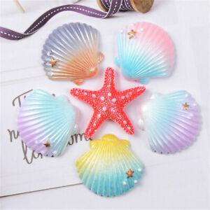 Random-Resin-Starfish-and-Shells-Craft-Cabochons-Mixed-10-pcs-Flatbacks-Decors