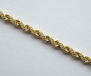 Image Is Loading New 9ct Gold Pendant Rope Chain Necklace 18