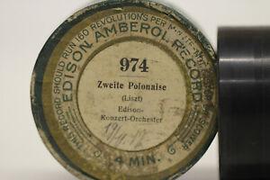 EDISON Ambererol Walze 974 Zweite Polonaise Edison Konzert Orchester Liszt 1912