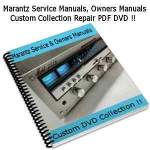Marantz Service Manuals, Owners, Custom Collection Compilation Repair PDF DVD !!