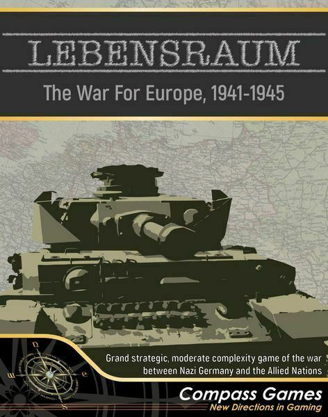 LEBENSRAUM THE WAR FOR EUROPE 1941-1945 BOARD GAME GAME GAME 9211f6