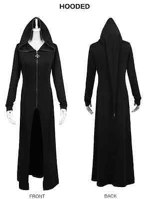 New Punk Rave Rock Goth Witches Hood Black Cotton Coat ALL STOCK IN AUSTRALIA!