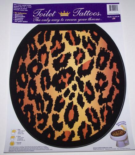 Factory New Toilet Tattoo Bathroom Toilet Decal Leopard Animal Print Elongated