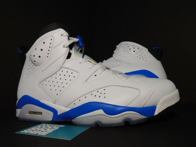 Nike Air Jordan VI 6 Retro WHITE SPORT ROYAL blueE BLACK GREY 384664-107 10.5