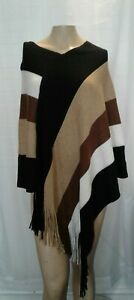 NEW-Chico-039-s-OS-One-Size-Womens-Multi-Color-Southwest-Style-Poncho-Fringe-NWT