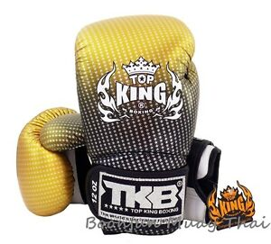 NWT-TOP-KING-Boxing-gloves-Gold-TKBGSS-01-Super-Star-Air-MMA-K1-Muay-Thai-gloves