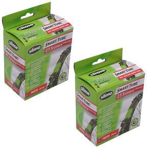 Slime-Smart-Self-Seal-650b-MTB-Bike-Inner-Tube-27-5-034-X-1-90-2-1-Presta-Valve-x2