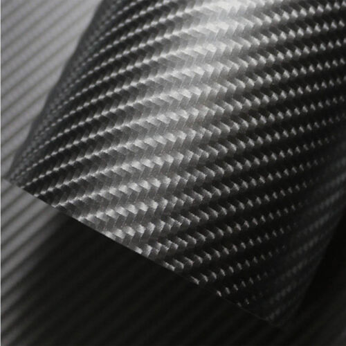 Blue Grey 4D Carbon Fiber Vinyl Film Car DIY Wrap Sheet Roll Film Sticker Decal