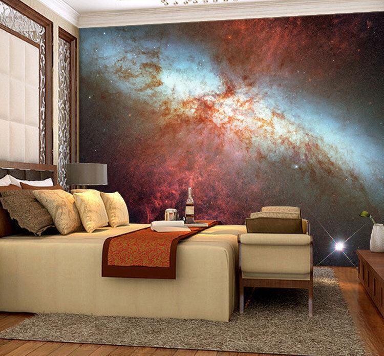 Violent Galactic Encounter Full Wall Mural Photo Wallpaper Print Home 3D Decal