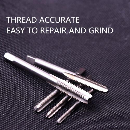 5Pcs HSS Machine Hand Screw Thread Metric Plug Tap Drill Set M3 M4 M5 M6 M8
