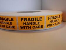 Fragile Handle With Care Warning Stickers Labels Fluorescent Orange 250rl