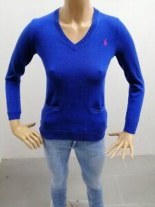 Maglione-RALPH-LAUREN-bambina-Taglia-Size-12-14anni-S-donna-Sweater-Woman-6486