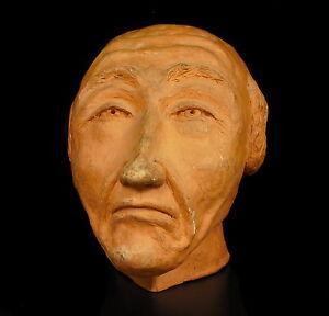 Sculpture-Tete-de-Old-Man-Terracotta-Fixed-16-5cm-Old-Man-Head-Bust-Terracotta