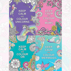 Image Is Loading Keep Calm And Colour Collection 4 Books Set