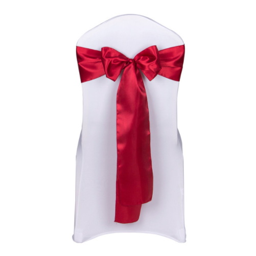 Dark rot satin chair sashes ties bow ribbon wedding birthday party decoration