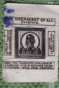 Black Joe Cream Gum Wrapper L.E. West Rock Island Illinois Black Americana