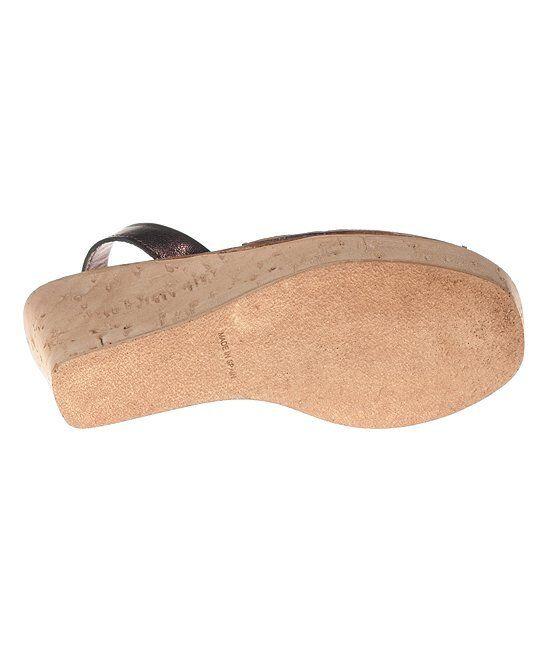 Maria Barcelo Metallic Copper 10 Leder Sling-Back Sandale Größe 10 Copper (NEW) 455148