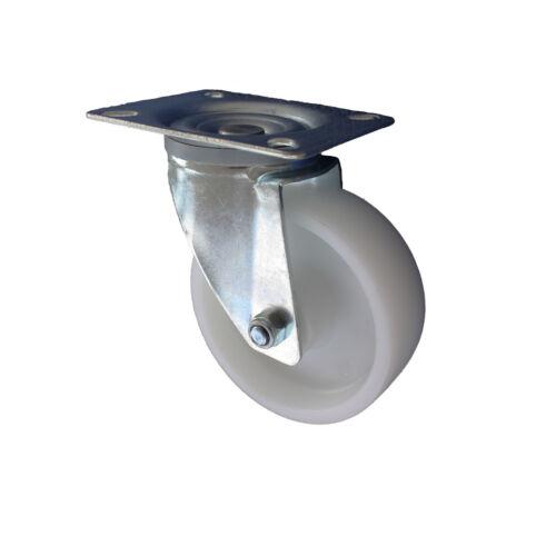 Set 4L+4LDS Transportrollen PP Rad 100 mm Lenkrollen Transportgeräterollen A1