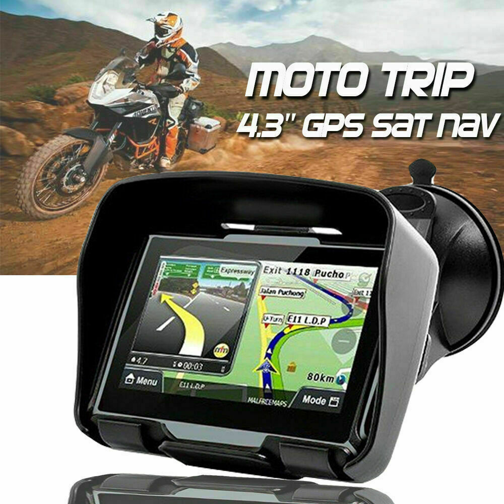 Dispositivo di navigazione MOTO 4,3 pollici auto GPS Navigazione Impermeabile  autota dell'Europa
