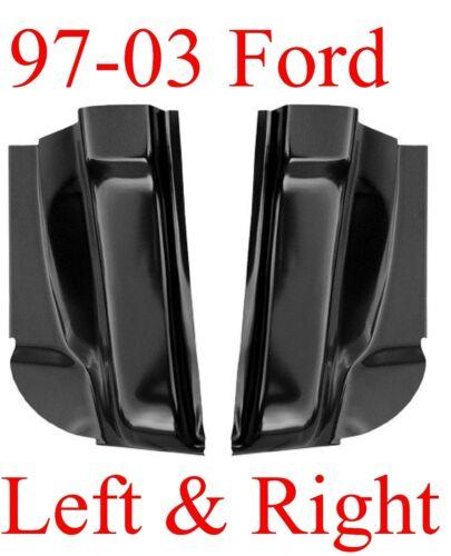 Left /& Right 97 03 Ford Cab Corner Set Regular Cab F150 2 Door 1.2MM Thick