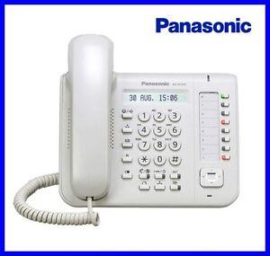 Telefono-digitale-IP-Panasonic-KX-NT-551NE-Bianco-per-centrali-Panasonic