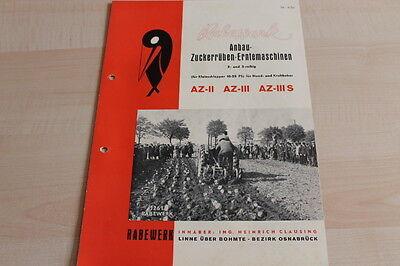 Herzhaft 144351) Rabewerk Anbau Zuckerrübenernte - Az Ii Iii S - Prospekt 03/1952