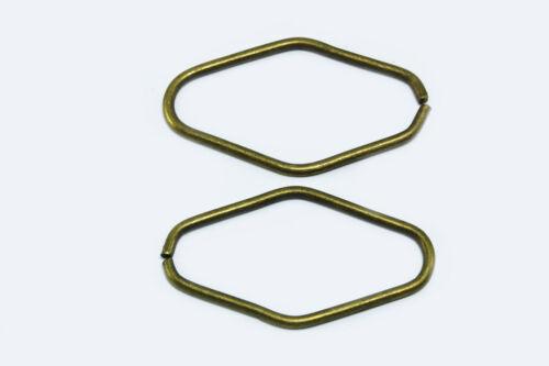 s94 Anillos oval conexión anillos tóricas binderinge ojales biegeringe anillo metálico