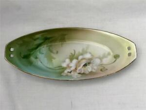 Porcelain Oblong Relish Or Celery Dish