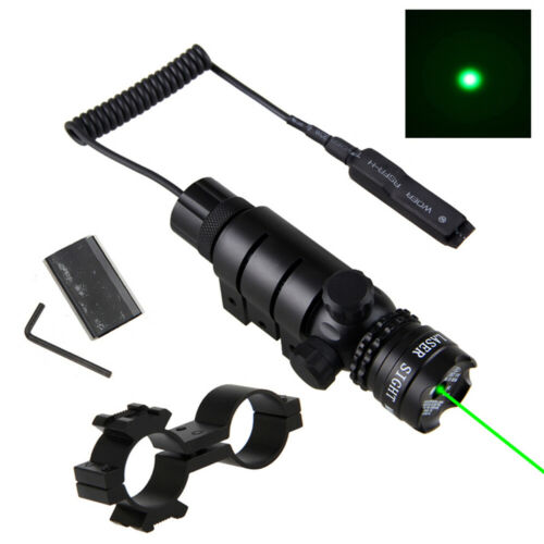 Red// Green Dot Laser Sight Airsoft Gun Rifle Mount Tactical Hunting Scope Switch