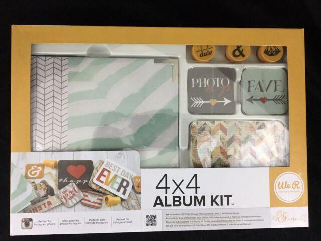Instagram Shine 4x4 Album Kit By We R Memory Keepers 62510 0 Ebay
