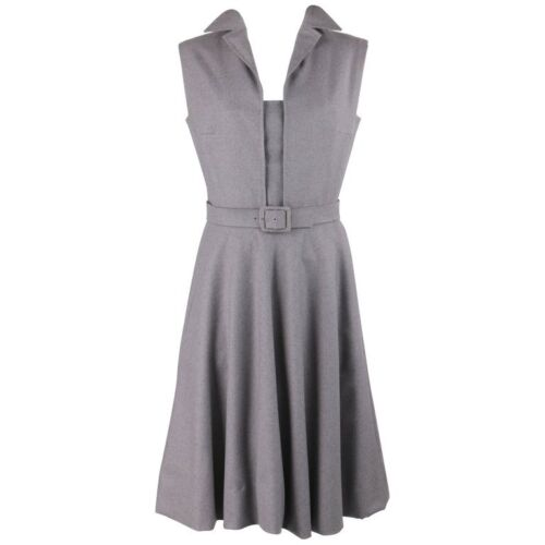 PAULINE TRIGERE c.1980's Gray Wool Extended Should