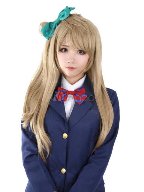 Love Live! Minami Kotori Long Flaxen Straight  Fashion Lovely Anime Wig
