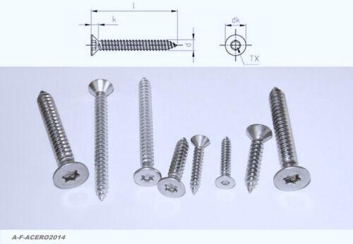 100 Blechschrauben Edelstahl VA TX Linsenkopf Senkkopf tapping screws 304 A2 64