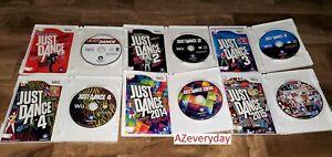 JUST DANCE Wii game LOT 1 2 3 4_2014_2015 DANCING Music COMPLETE Bundle Nintendo