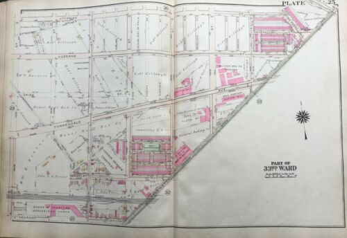 PHILADELPHIA PA MERRITT SQUARE PARK 1925 JUNIATA PARK COPY PLAT ATLAS MAP
