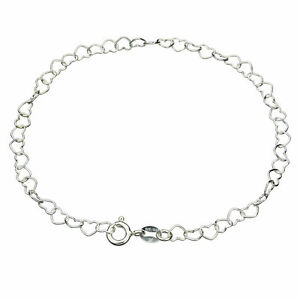 Italy 925 Sterling Silver Heart Key Charm Link Bracelet 5 3//4 Jewelry by Wholesale Charms