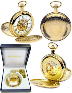 a091d4484 Mount Royal Twin-Lid Hunter Skeleton Pocket Watch 17 Jewel GP Free ...