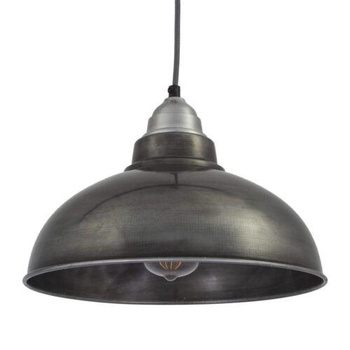 Lumière pendentif Style Vintage-Étain Gris foncé 12 inch