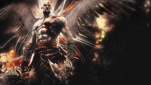 Poster 42x24 cm Kratos God Of War Videojuego Videogame Cartel Decor Impresion