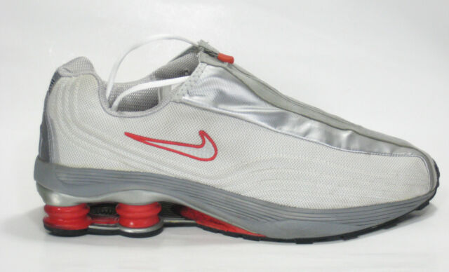 4cd0483ba3 Frequently bought together. VINTAGE 2002 NIKE SHOX R4 Grey Red Running Shoes  ...