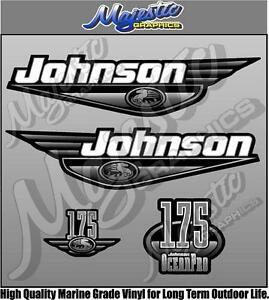 JOHNSON 175hp OCEAN PRO - DECAL SET - OUTBOARD DECALS