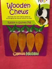 Piccoli animali CAROTA giocattolo Chew Gnaws considera 2,5 pollici x 4 Coniglio Criceto CHINCHILLA