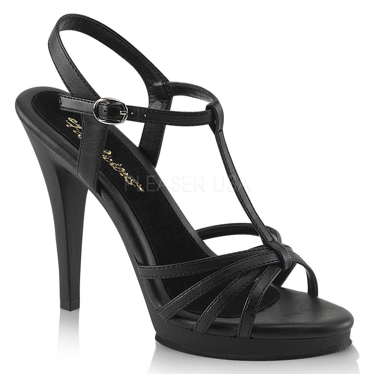 Tamaño de Reino Unido Unido Unido 7 Pleaser Flair 420 Negro Mate Fiesta Con Tiras Sandalias De Salón Zapatos de Taco Alto e3a68b