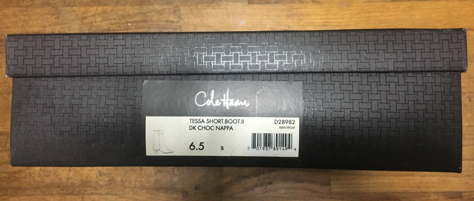 COLE HAAN Tessa Short Boot II Soft Soft Soft Nappa Leather Dk Chocolate 6.5 B  NEW IN BOX 03e145