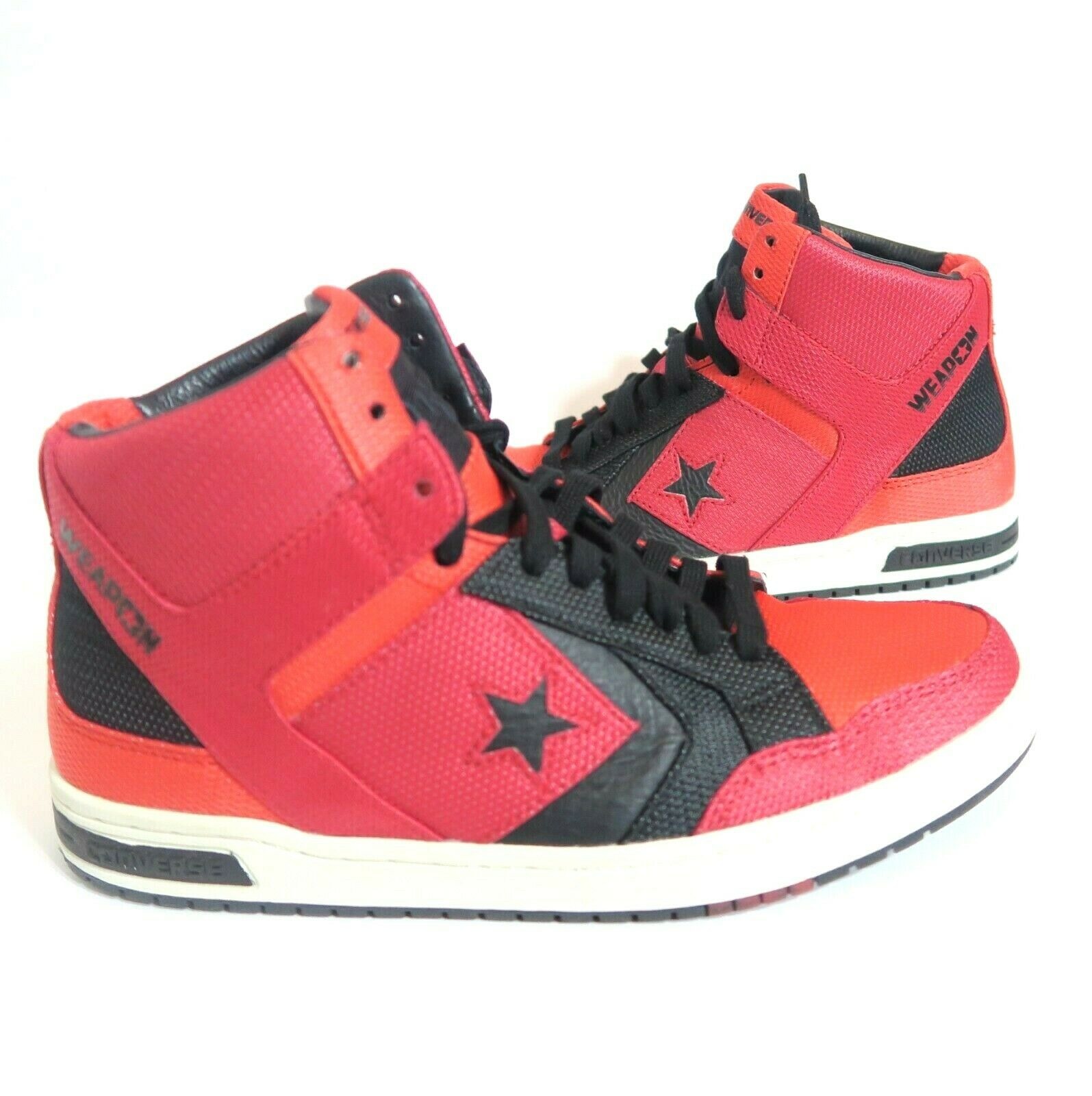 New Converse Weapon Mid Top Ski Patrol Red Black Sneaker 132828C Mens Size 10