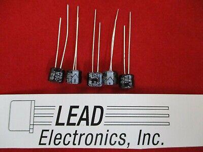 qty 5 100uf 16-volt RADIAL 105-DEG SIZE 6MM WIDE X 5MM TALL SUB MINIATURE