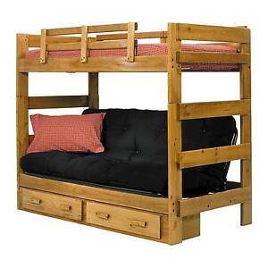 Chelsea Home Twin Over Futon Bunk Bed With Underbed Storage Honey 366200 S