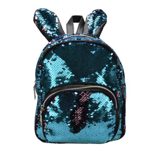 Mini Rucksack für Damen oder Kinder Mädchen Wende Pailletten glitzer Tasche