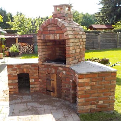 1 St. Ziegelstein Outdoor Küche Brotbackofen Backsteine Sichtschutz Mauersteine